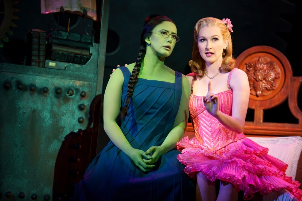Mariand Torres & Erin Mackey in WICKED. Photo by Joan Marcus - 0117r2