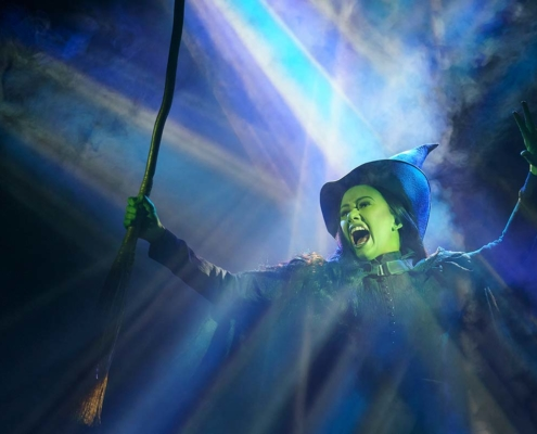 Mariand Torres as Elphaba in WICKED. Photo by Joan Marcus