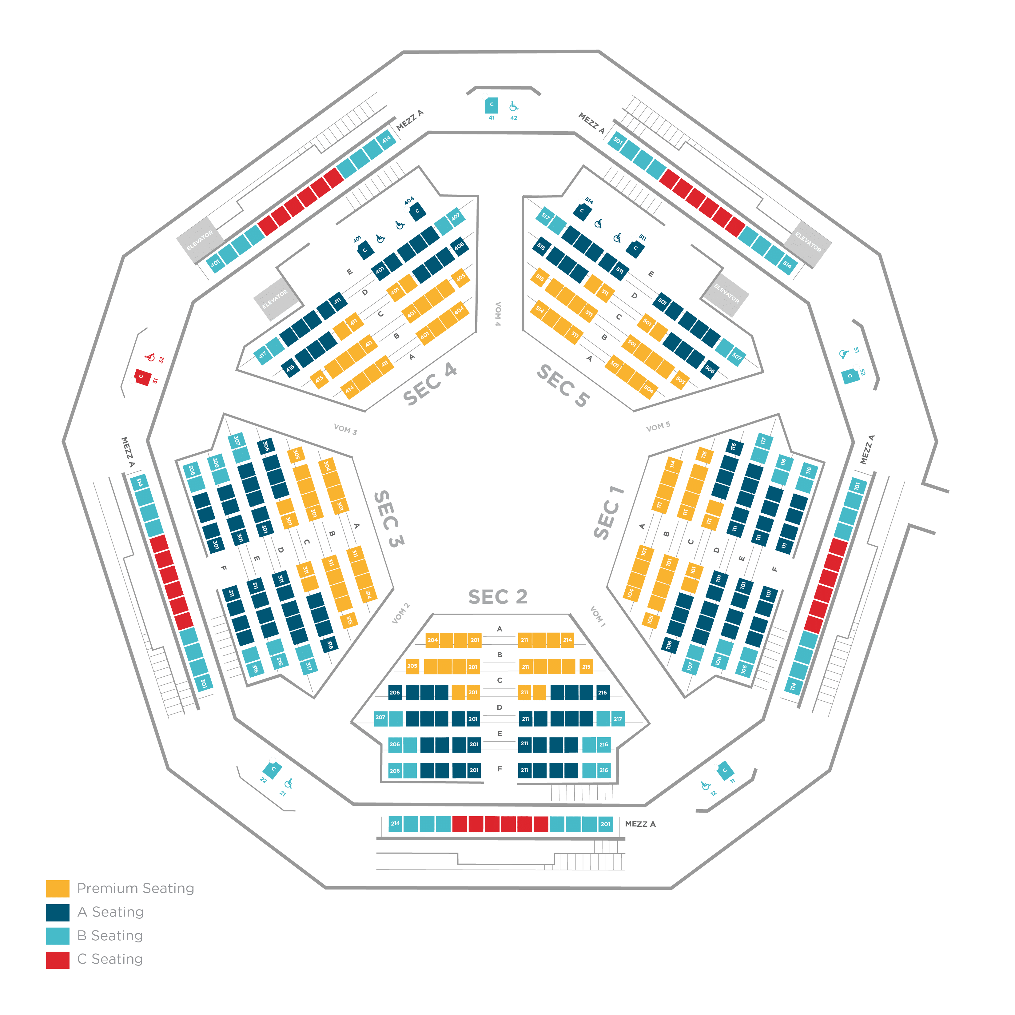 The Space seat map