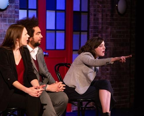 Meghan Babbe, Jordan Savusa, Alison Banowsky. Photo by Tim Schmidt.