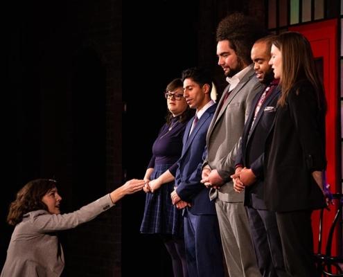 (L to R) Alison Banowsky, Jackie Southee, Vernon Mina, Jordan Savusa, E.J. Cameron, Meghan Babbe. Photo by Tim Schmidt.