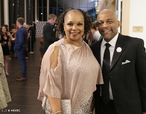 Mary Louise Lee and Mayor Michael B. Hancock at the 2019 Henry Awards. Photo by John Moore.