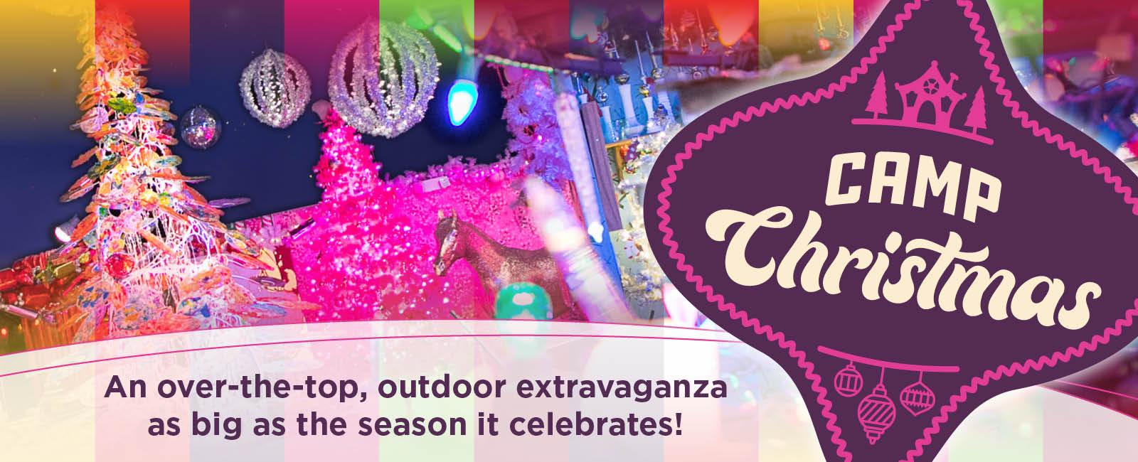An over-the-top, outdoor extravaganza as big as the season it celebrates!