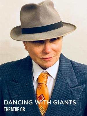 Tovah Feldshuh as Joe IN DANCING WITH GIANTS. Theatre Or.