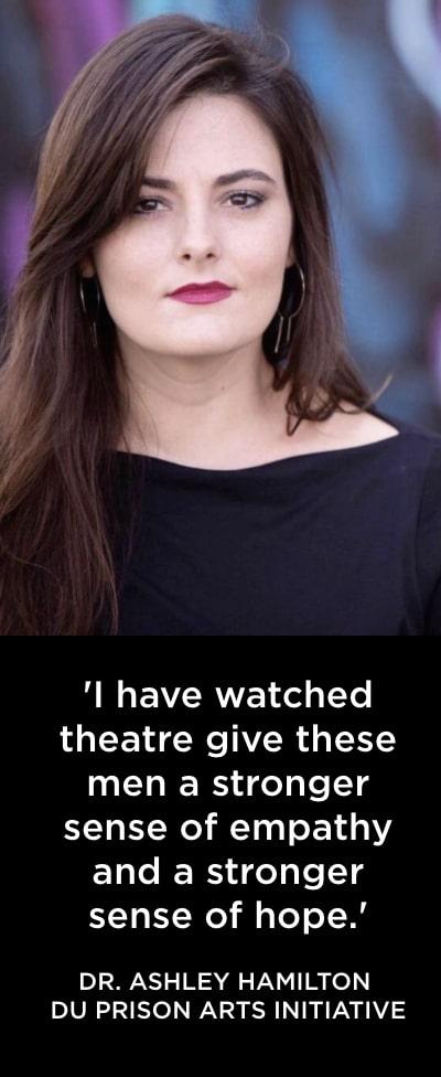 Ashley Hamilton. DU Prison Arts Initiative