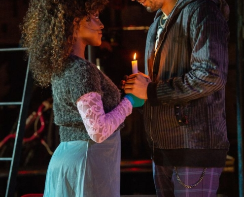 (L to R) Aiyana Smash, Coleman Cummings RENT 20th Anniversary Tour, Credit Amy Boyle 2019.