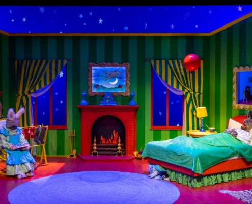 Mercedes Perez and Rakeem Lawrence in GOODNIGHT MOON_Photo by Adams VisCom