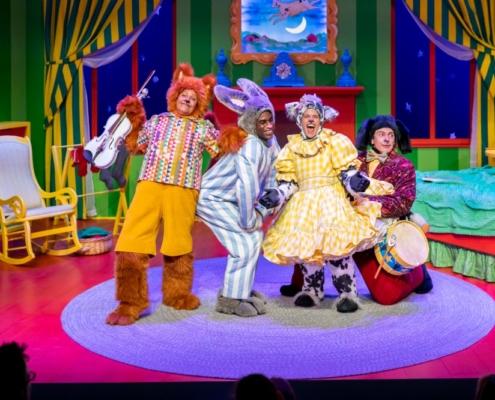 Mercedes Perez, Rakeem Lawrence, Susannah McLeod and Marco Robinson in GOODNIGHT MOON_Photo by Adams VisCom