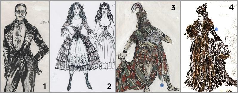Phantom of The Opera costume sketches