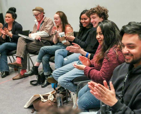 High School Playwriting Competition Rehearsals - Photo by John Moore