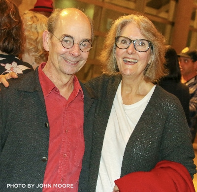 Jeanne Paulsen at her husband Larry's Opening Night of the DCPA Theatre Company's 'Twelfth Night.' Photo by John Moore.