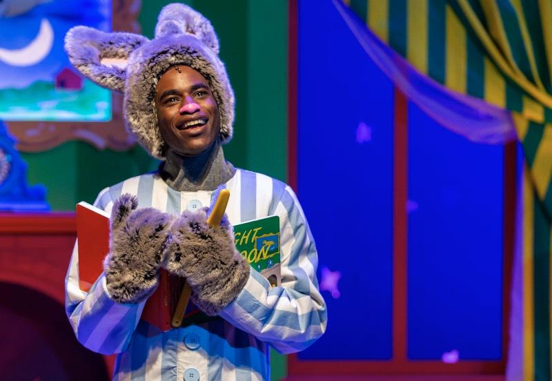 Rakeem Lawrence stars as Bunny in 'Goodnight, Moon.' Photo by Adams VisCom