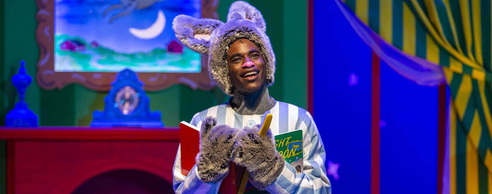 Rakeem Lawrence as Bunny in GOODNIGHT MOON Photo by Adams VisCom