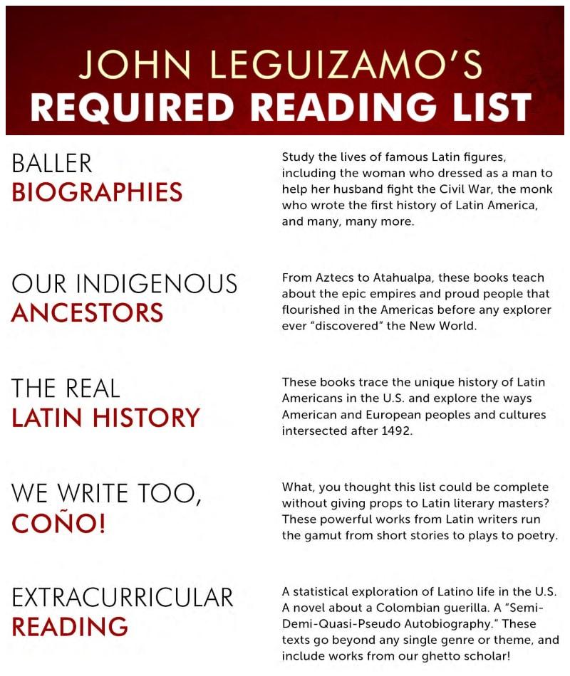 John Leguizamo's Required Reading List