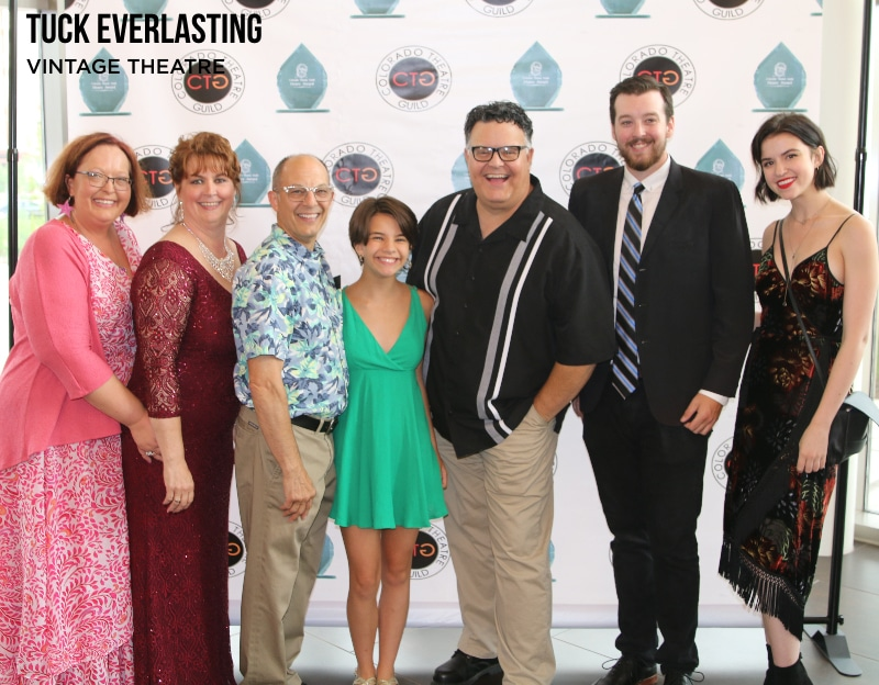 Some cast and crew from 'Tuck Everlasting gathered at the 2019 Henry Awards. Photo by John Moore.