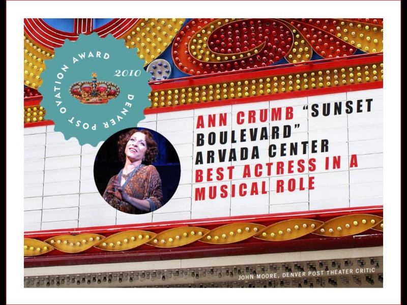 Ann Crumb 2010 Denver Post Ovation Award