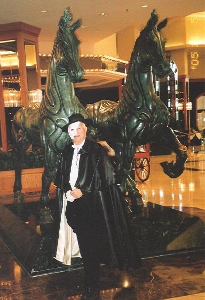 Richard Moore in full 'Phantom' regalia at Denver's Adam's Mark Hotel. Courtesy Richard Moore.