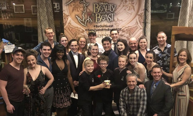 2019 True West Awards Matthew D. Peters and Alicia King Dunfee, center, with the cast of Disney's 'Beauty and the Beast.'