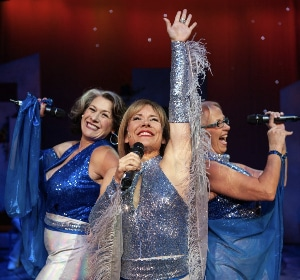 Alicia K. Meyers, Tracy Warren and Joanie Rubald in 'Mamma Mia.' Photo by Glenn Ross
