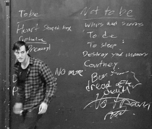 Archie Archuleta as Hamlet in 'Nirvamlet.' Photo by John Moore