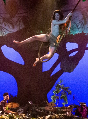 Barret Harper in Tarzan. Candlelight Dionner Playhouse RDG Photography