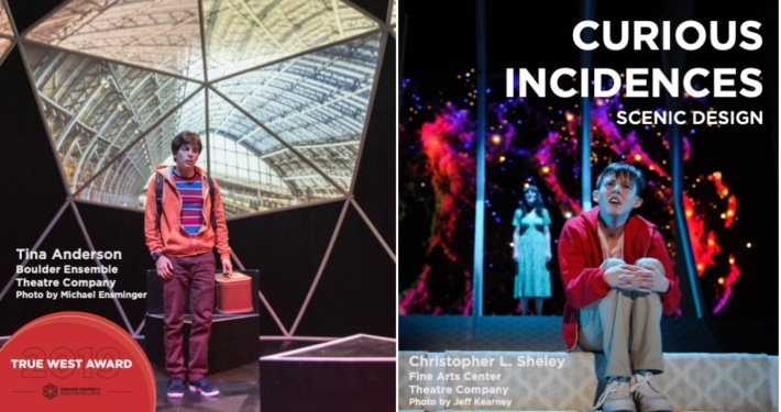 2019 True West Award Scenic Design The Curious Incident of the Dog in the Night-Time Fine Arts Center Theatre Company Boulder Ensemble