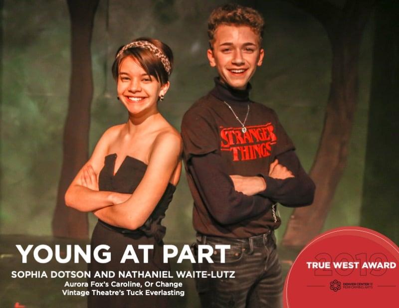 2019 True West Awards Sophia Dotson and Nathaniel Waite-Lutz