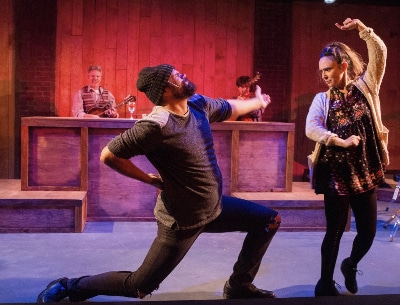 Joel Abelson in Miners Alley Playhouse's 'Once.' Photo by Sarah Roshan.