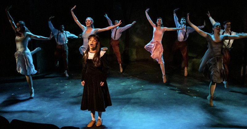 Sophia Dotson with the cast of 'Tuck Everlasting.' RDG Photography.