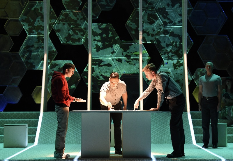 """Fine Arts Center Theatre Company's 'The Curious Incident of the Dog in the Night-Time."""" Photo by Jeff Kearney."""