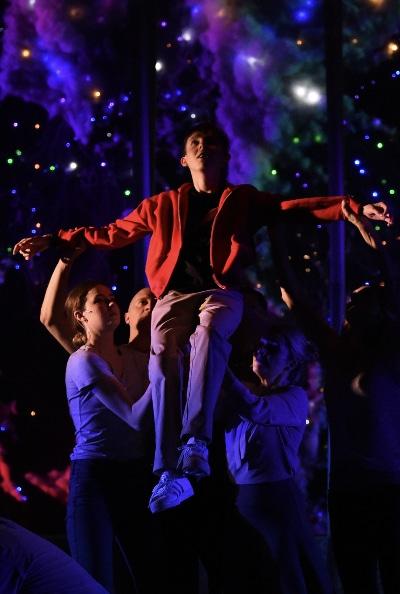 Fine Arts Center Theatre Company's Logan Riley Bruner. Photo by Jeff Kearney.