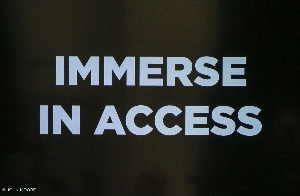 Immerse in Access. Off-Center Photo by John Moore.