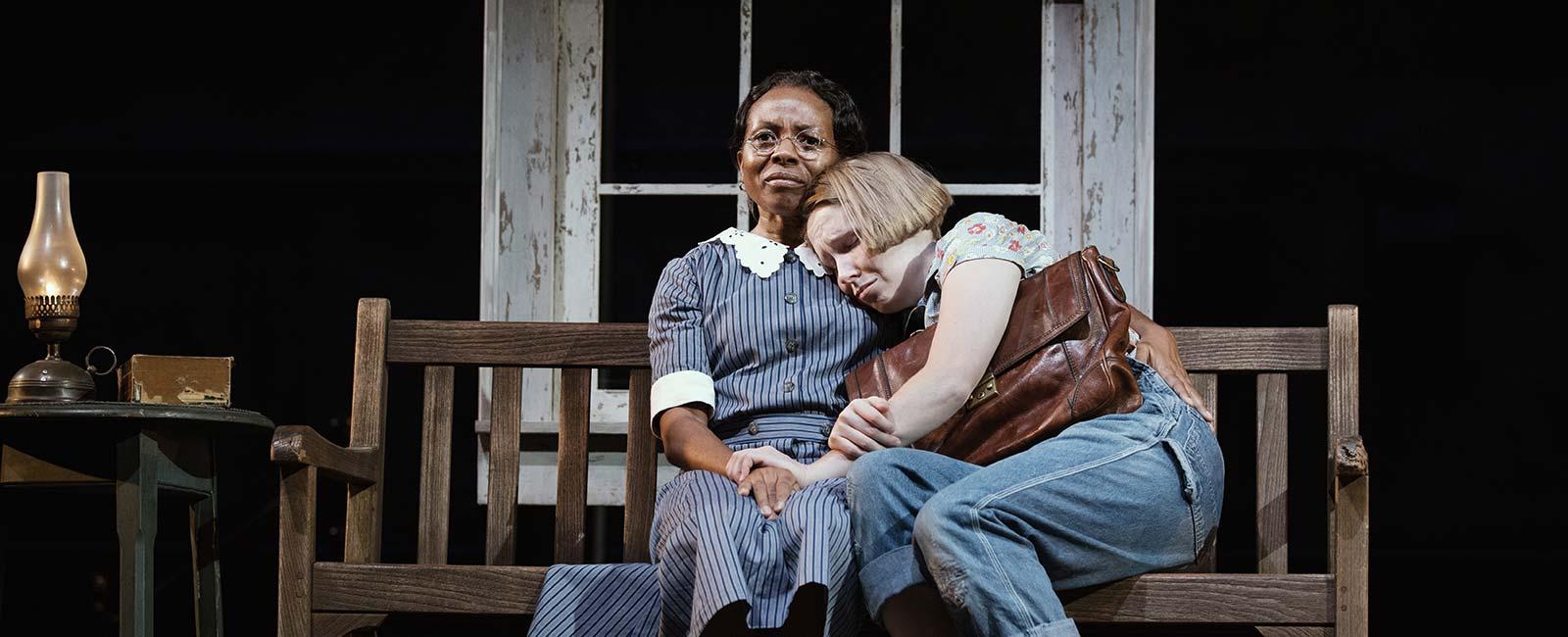 Lisa Gay Hamilton and Nina Grollman in 'To Kill a Mockingbird'. Photo by Julieta Cervantes.