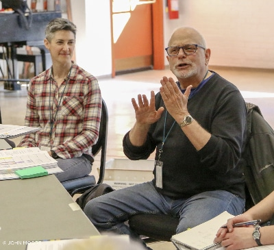 Another Kind of Silence. 2020 Colorado New Play Summit. Paywright M L Fedlman and Director of Artistic Sign Language Lewis Merklin. Photo by John Moore.