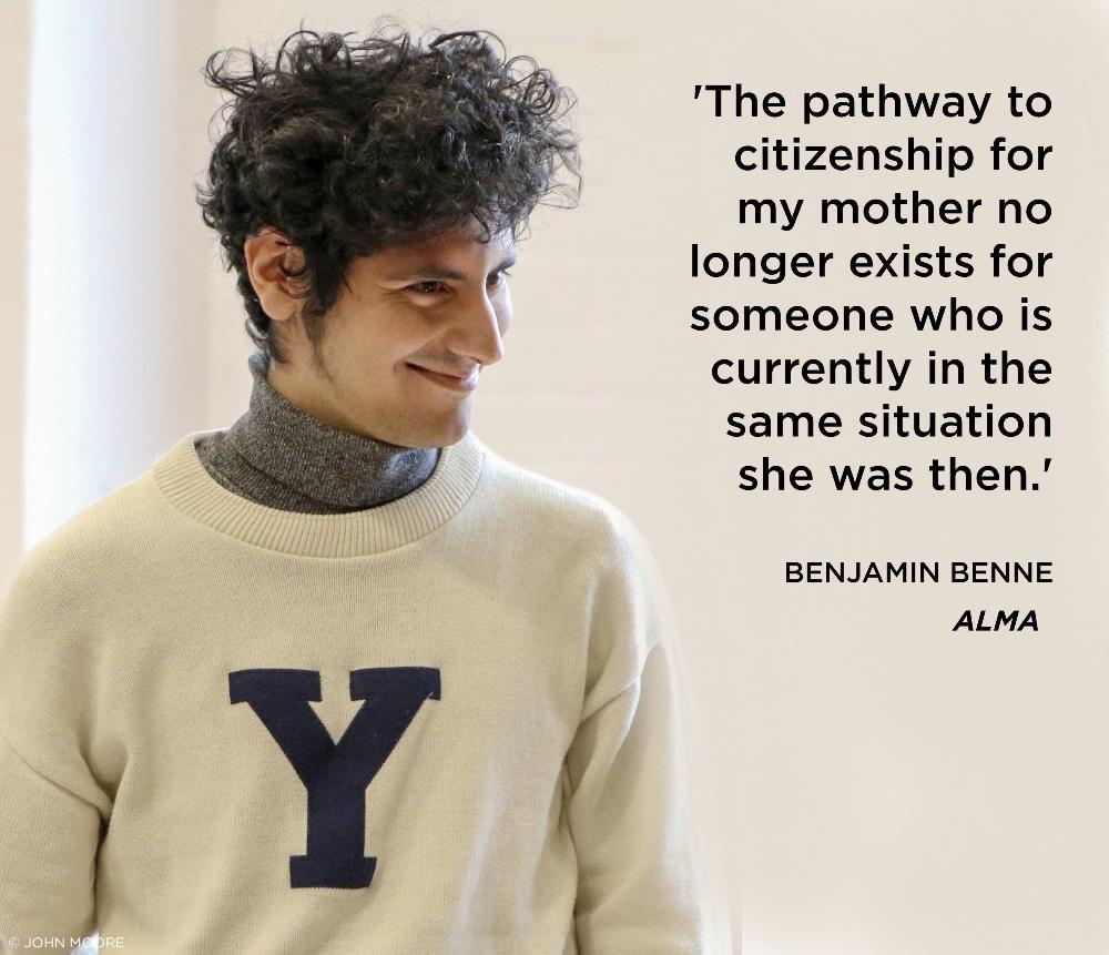Benjamin Benne quote. Alma. Photo by John Moore