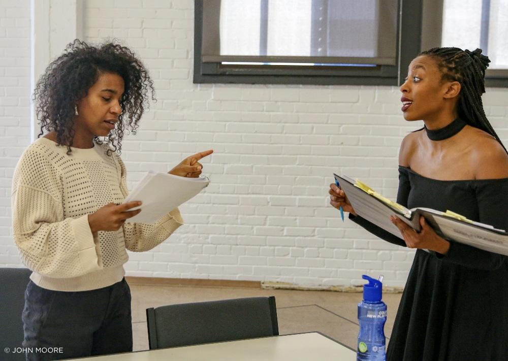 Danaya Esperanza Angel and Amandla Jahava in 'Alma. Colorado New Play Summit. Photo by John Moore.