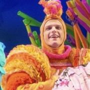 Joshua Bess in The SpongeBob Musical. Photo by Jeremy Daniel