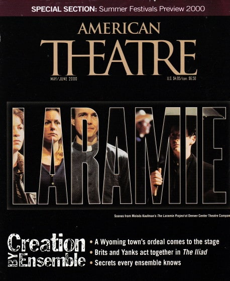 The January 2000 cover of American Theatre magazine.