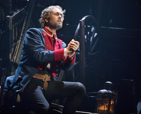 """Bring Him Home"" - Nick Cartell as 'Jean Valjean' in the new national tour of LES MISÉRABLES. Photo by Matthew Murphy"