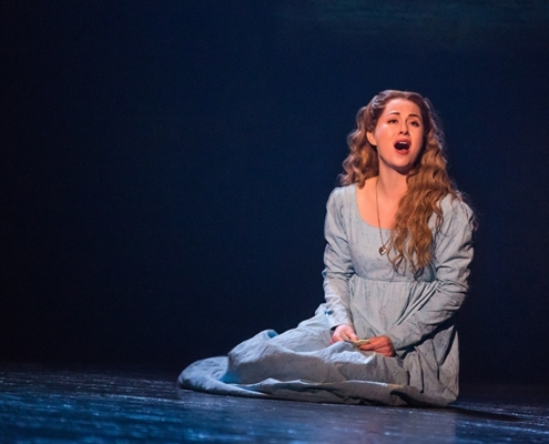 """I Dreamed A Dream"" - Mary Kate Moore as 'Fantine' in the new national tour of LES MISÉRABLES. Photo by Matthew Murphy"