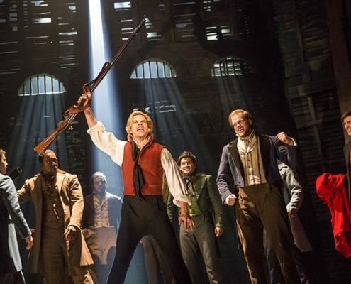 Matt Shingledecker as 'Enjolras' in the new national tour of LES MISÉRABLES. Photo by Matthew Murphy