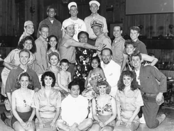 Bill McHale with the cast of 'South Pacific,' including Beth Malone.