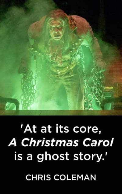 A Christmas Carol. Jeff Roark as Marley. PHOTO BY Adams VisCom