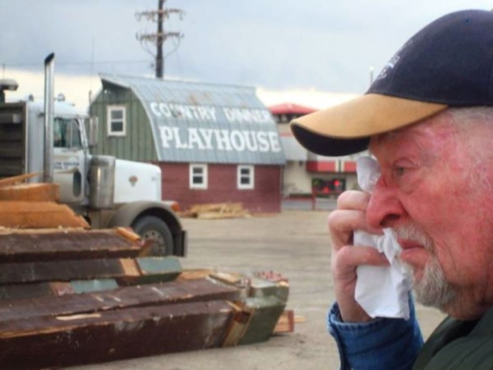 Bill McHale at the demolition of the Country Dinner Playhouse in 2010. Photo by John Moore