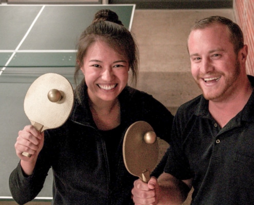 Cheyenne Michaels, Marketing Manager and staff Ping-Pong Champion