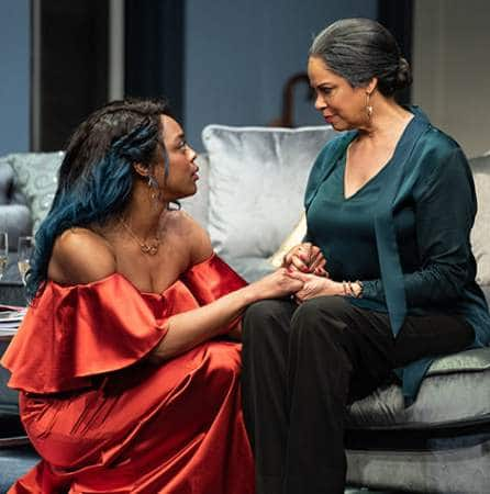 Ericka Ratcliff and Terry Burrell star in the 2019 world premiere of 'Angry, Raucous, and Shamelessly Gorgeous' at the Alliance Theatre in Atlanta. Photo by Greg Mooney.