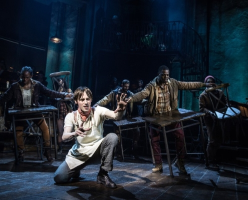 Reeve Carney and the Original Broadway Cast of Hadestown. Credit: Matthew Murphy