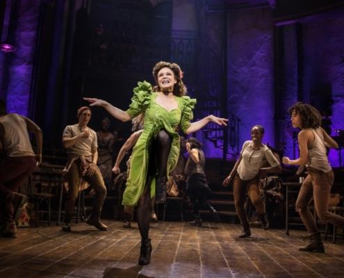 Amber Gray and the Original Broadway Cast of Hadestown. Credit: Matthew Murphy