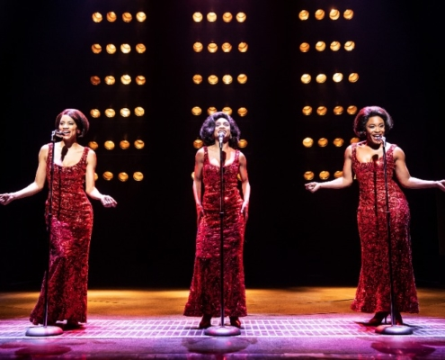 Taylor Symone Jackson, Candice Marie Woods, and Nasia Thomas in AIN'T TOO PROUD. Photo by Matthew Murphy.