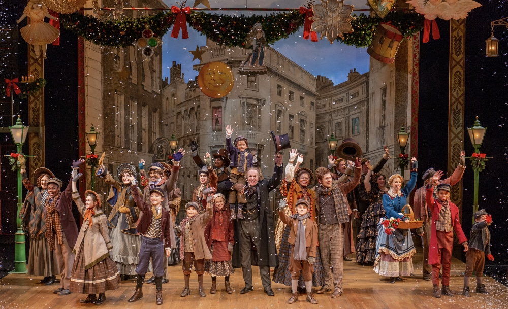 The 2018 company of 'A Christmas Carol.' Photo by Adams VisCom